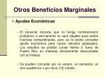otros beneficios marginales37