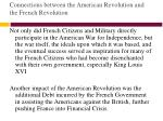 connections between the american revolution and the french revolution