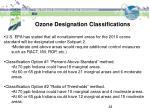 ozone designation classifications