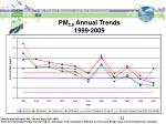 pm 2 5 annual trends 1999 2009