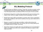 so 2 modeling protocol