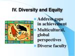 iv diversity and equity