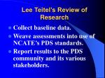 lee teitel s review of research