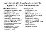 age appropriate transition assessments appendix e of the transition guide29