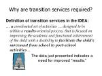 why are transition services required6