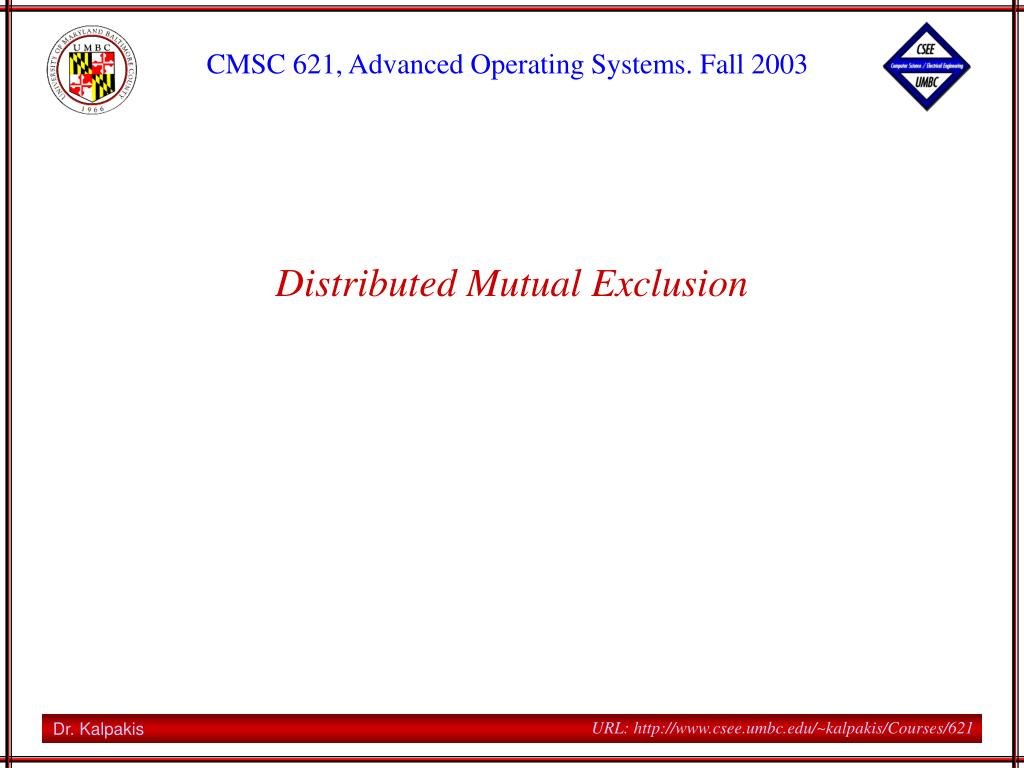 distributed mutual exclusion l.
