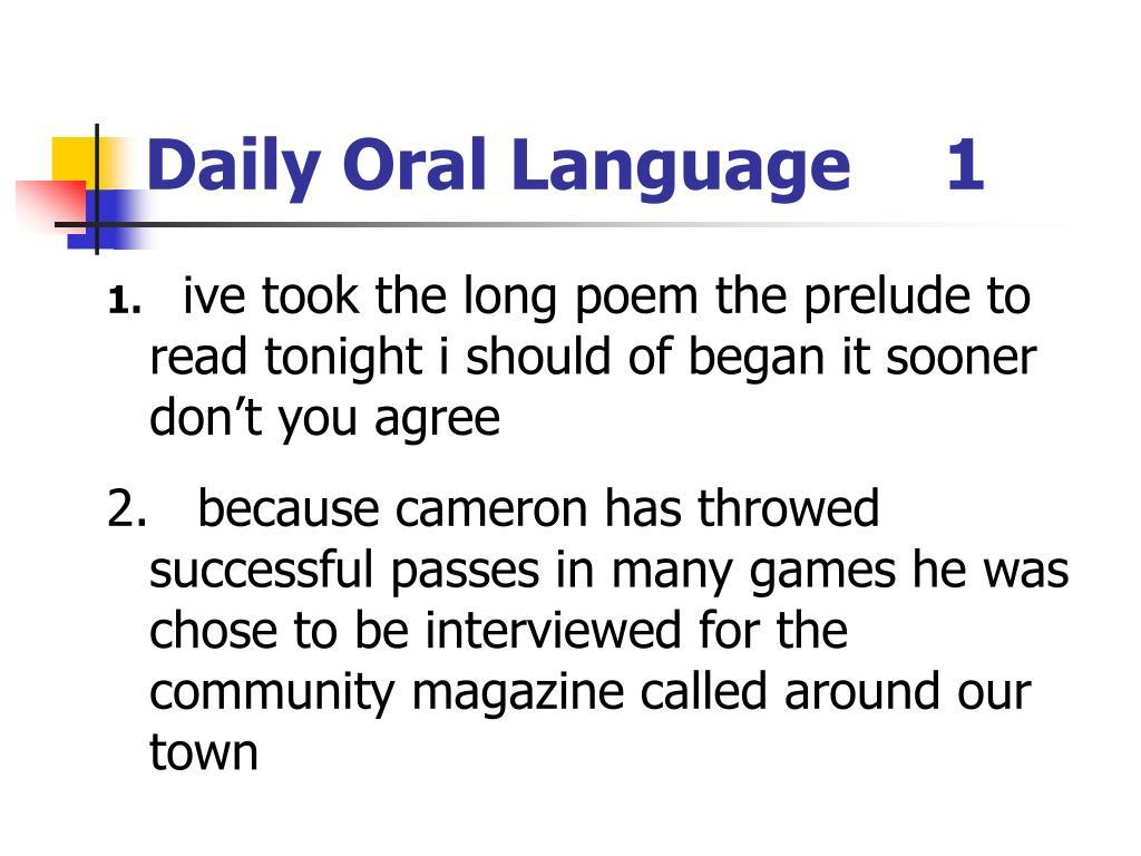 daily oral language 1 l.