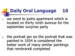 daily oral language 10