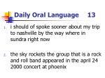 daily oral language 13