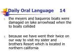 daily oral language 14