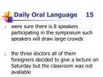 daily oral language 15