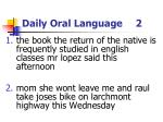 daily oral language 2