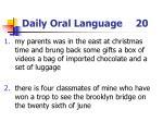 daily oral language 20