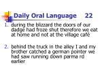 daily oral language 22