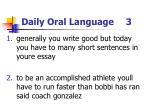 daily oral language 3