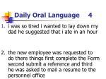 daily oral language 4