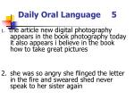 daily oral language 5