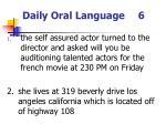 daily oral language 6