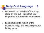 daily oral language 8