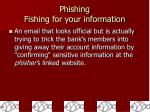 phishing fishing for your information