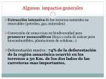algunos impactos generales22