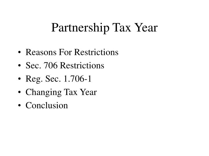 Partnership tax year2