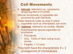 cell movements