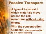 passive transport54