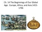 ch 14 the beginnings of our global age europe africa and asia 1415 1796