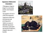 japanese welcome outsiders