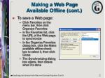 making a web page available offline cont