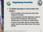 organizing favorites