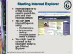 starting internet explorer