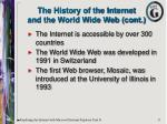 the history of the internet and the world wide web cont