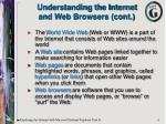 understanding the internet and web browsers cont