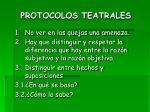protocolos teatrales