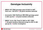 genotype inclusivity