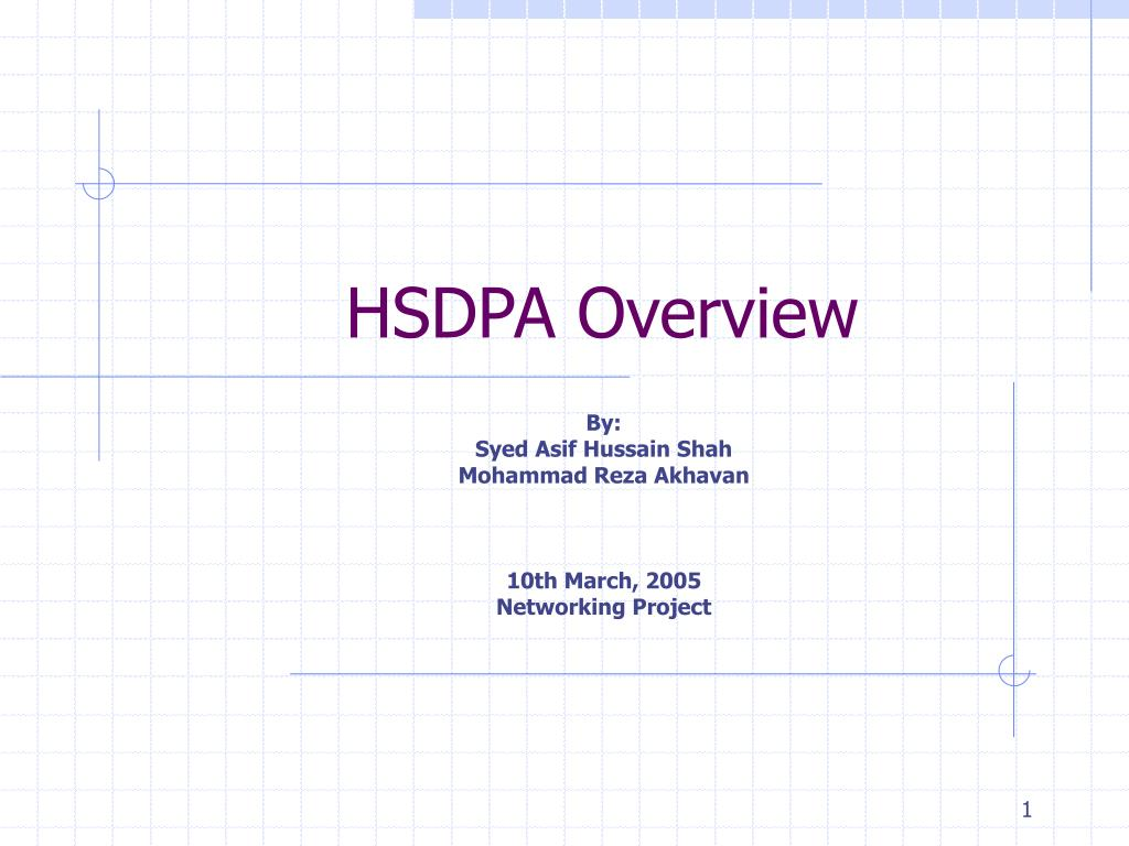 hsdpa overview l.