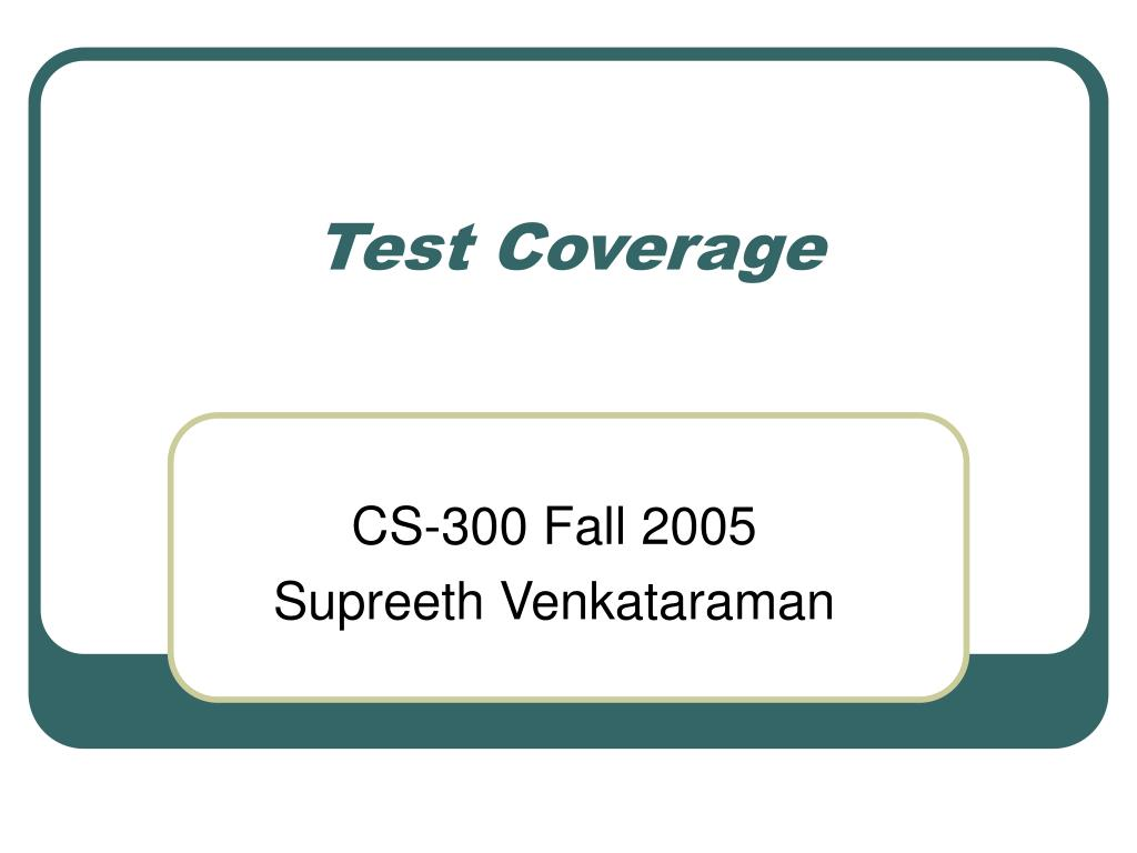 test coverage l.