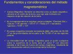 fundamentos y consideraciones del m todo magnetom trico