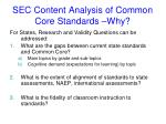 sec content analysis of common core standards why