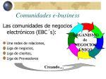 comunidades e business