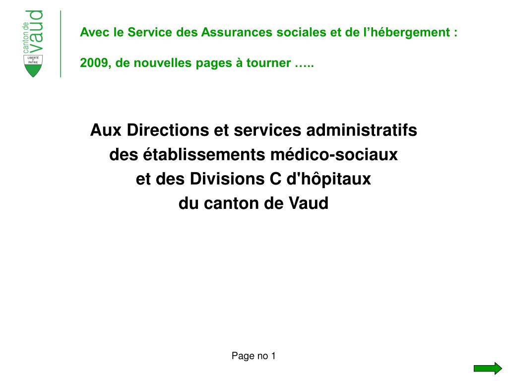 avec le service des assurances sociales et de l h bergement 2009 de nouvelles pages tourner l.