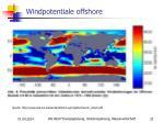 windpotentiale offshore