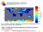 windpotentiale onshore
