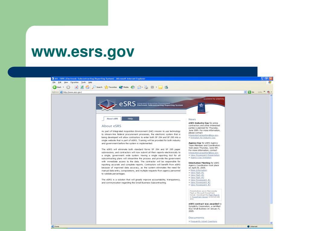 www.esrs.gov