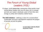 the forum of young global leaders ygl