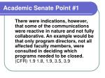 academic senate point 1