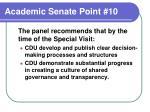 academic senate point 10