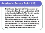 academic senate point 12